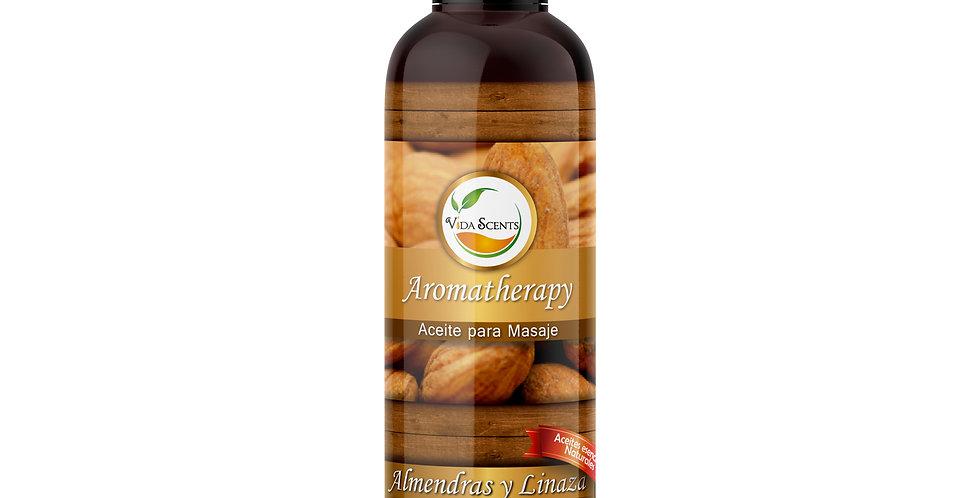 Aceite para masaje Almendras & Linaza 125 ml.