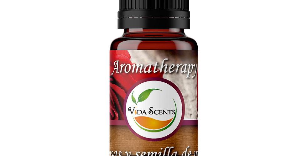 Esencia aromatherapy Rosas & Semilla de uva 10 ml.