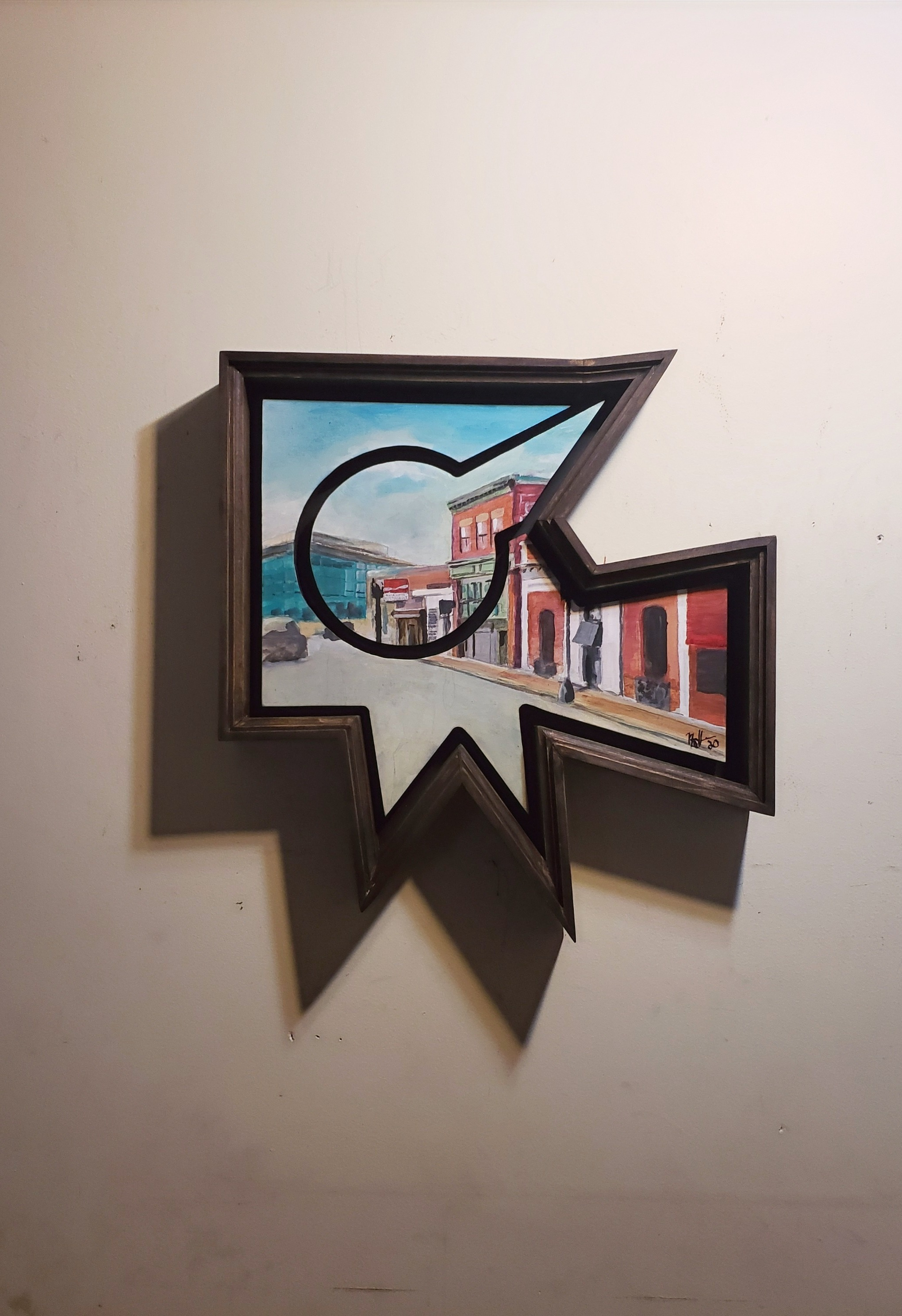 """Washington Street II"" mixed media 2020"
