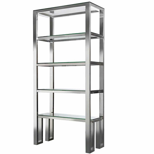 POLISHED CHROME 4 TIER DISPLAY UNIT