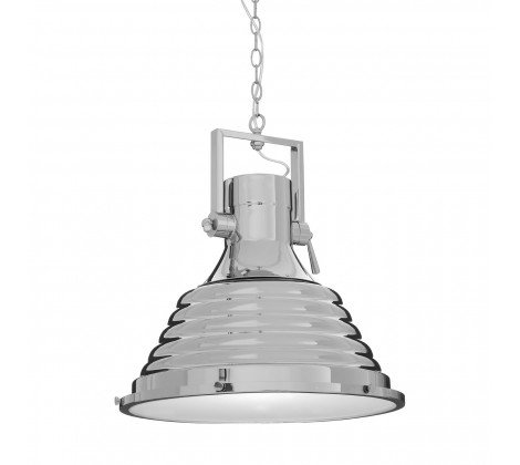 MINERVA LARGE CHROME PENDANT CEILING LIGHT