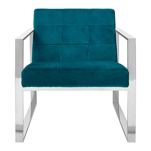 LUXE VOGUE COCKTAIL CHAIR TEAL