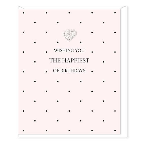 WISHING THE HAPPIEST OF BIRTHDAYS CARD