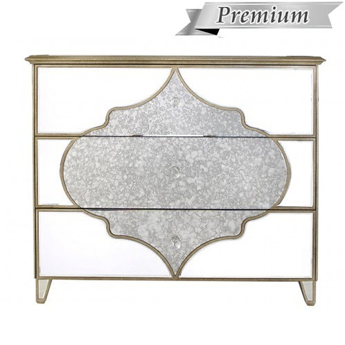 MIRRORED MOROCCAN 3 DRAWER CHEST