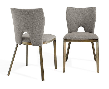 CAMLEY BEIGE LINEN DINING CHAIR (SET OF 2)