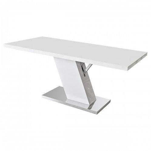WHITE HIGH GLOSS SLANT TABLE