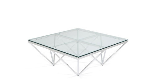 Star Square Coffee Table Silver