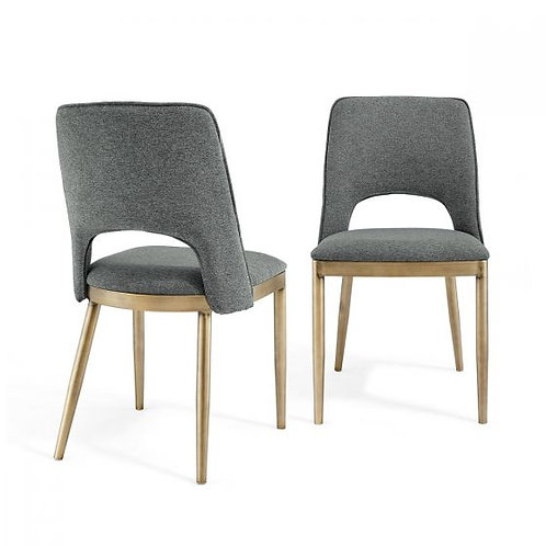 ATWOOD GREY LINEN DINING CHAIR (SET OF 2)