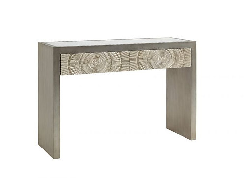 LUSSO SILVER 2 DRAWER CONSOLE TABLE