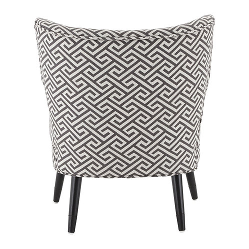 BLACK AND WHITE GEO CHAIR
