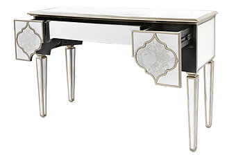 MIRRORED MOROCCAN 3 DRAWER CONSOLE TABLE MIRRORED MOROCCAN 3 DRAWER CONSOLE  TABLE