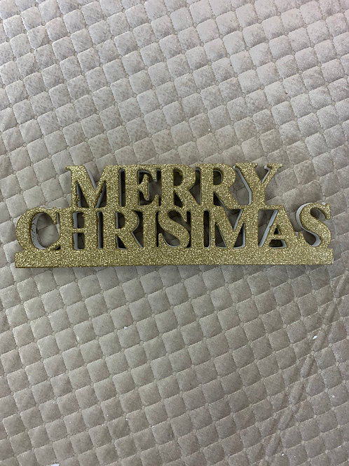GOLD SPARKL MERRY CHRISTMAS SIGN
