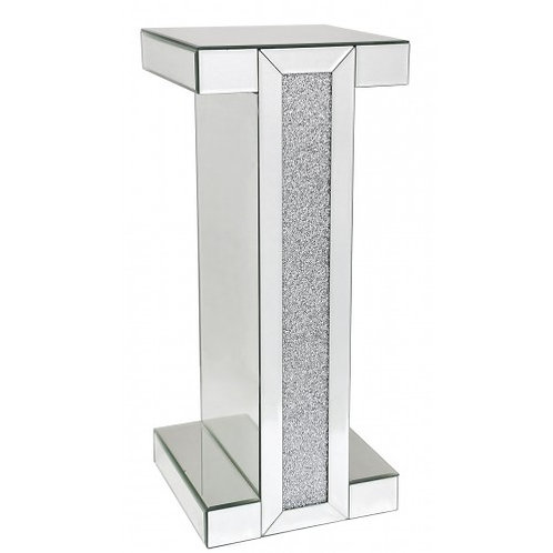 LUXURY CRUSHED CRYSTAL TALL SIDE TABLE