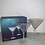 Thumbnail: SET OF TWO IRIDESCENT MARTINI GLASSES
