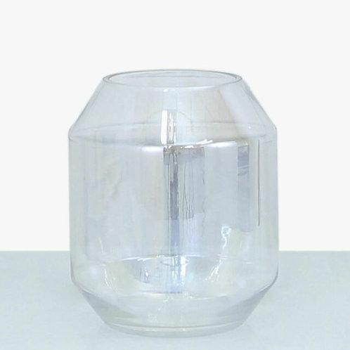 IRIDESCENT GLASS VASE 23cm
