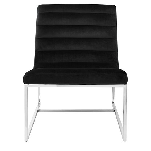 LUXE VOGUE CURVED COCKTAIL CHAIR BLACK