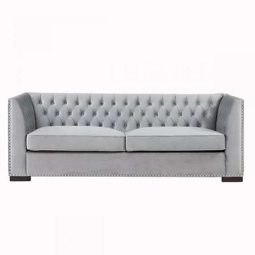 GREY 3 SEATER CHESTER SOFA