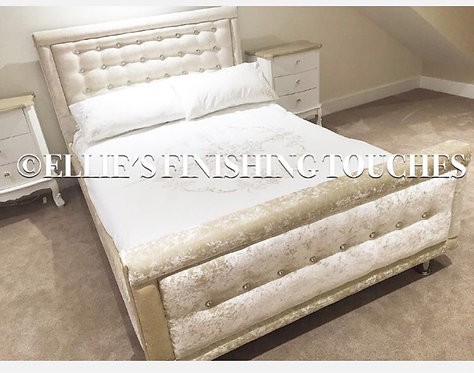 LISA CRUSHED VELVET BED