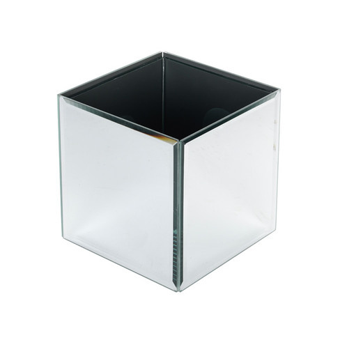 Small Mirrored Cube Vase Ellies Finishing Touches Hornchurch