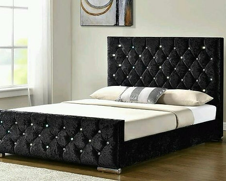 DIAMOND SPECIAL CRUSHED VELVET BED
