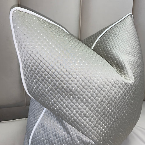 KAI STONE QUILTED WITH WHITE PIPING