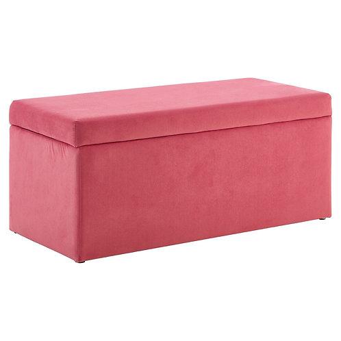 LUXE Mia Kids Ottoman Pink