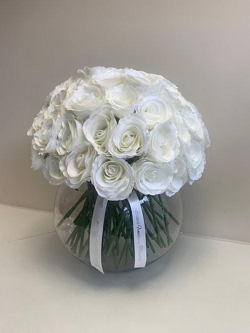 LARGE WHITE ROSE BUBBLE