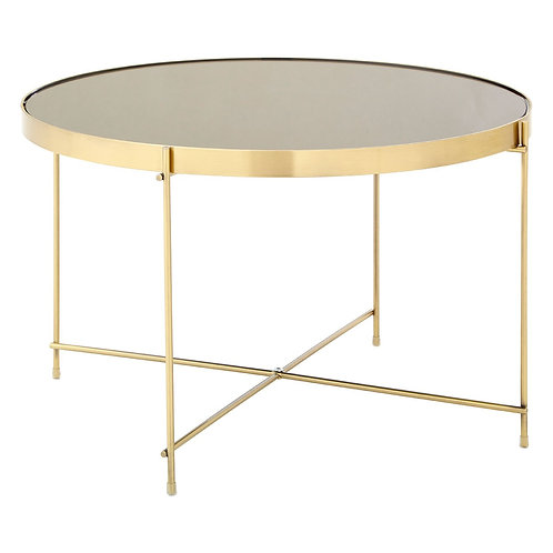 LUXE Allure Large Black Mirror Side Table