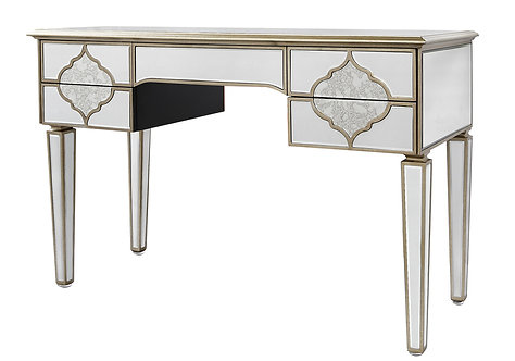 MIRRORED MOROCCAN 5 DRAWER CONSOLE TABLE