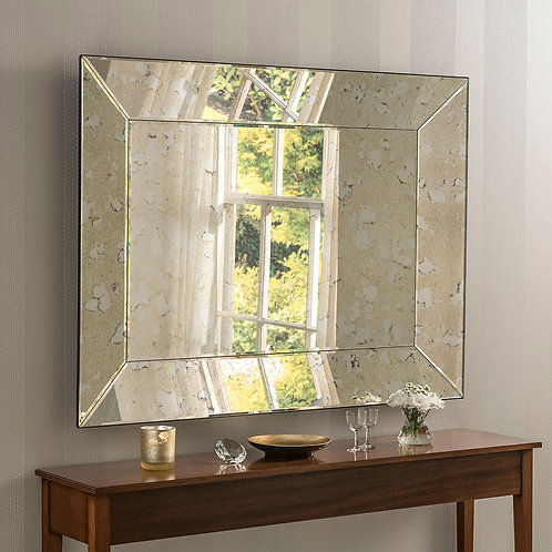 ART DECO ANTIQUE MIRROR 92x122cm