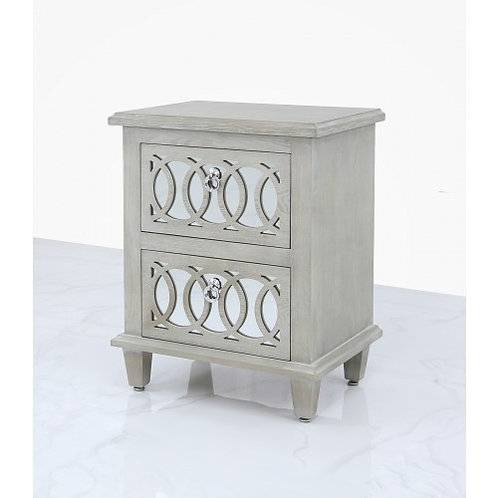 Aria two draw bedside table
