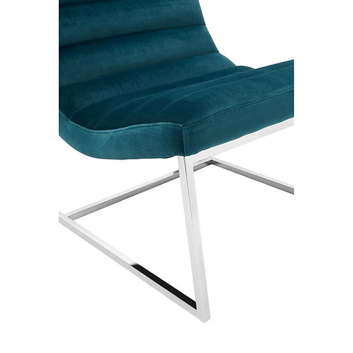 LUXE VOGUE CURVED COCKTAIL CHAIR TEAL