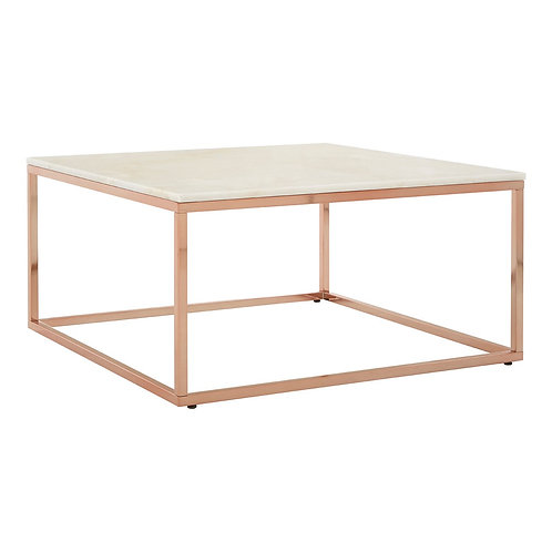 LUXE Allure Square Rose Gold Coffee Table