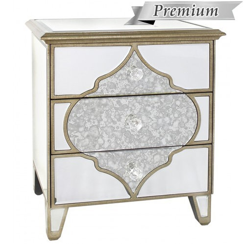 MIRRORED MOROCCAN BEDSIDE TABLE