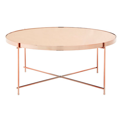 LIUXE Allure Pink Mirror Coffee Table