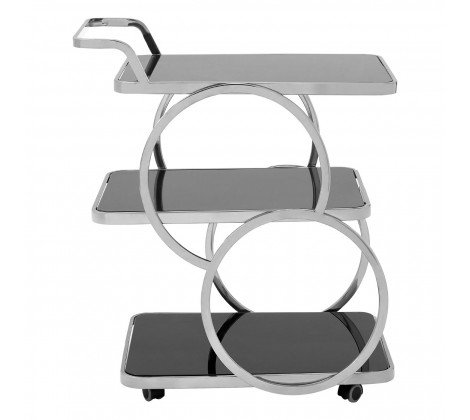 3 TIER CIRCLE DETAIL DRINKS TROLLEY