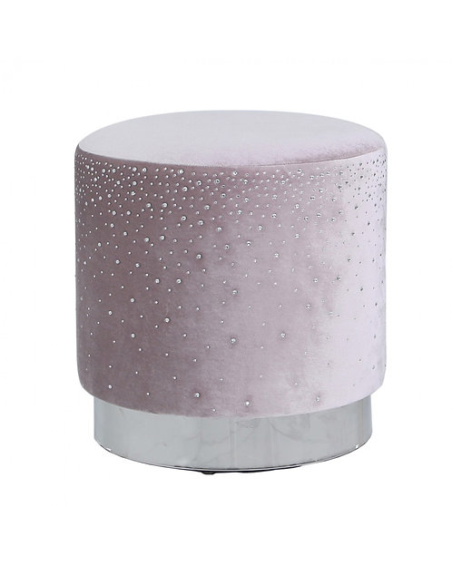 LAVENDER ROUND STOOL WITH SPARKLE PATTERN