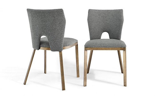 CAMLEY GREY LINEN DINING CHAIR (SET OF 2)