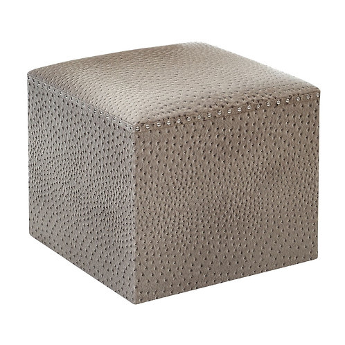 LUXE OSTRICH LEATHER EFFECT FOOT STOOL