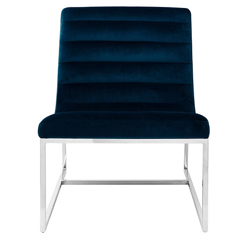 LUXE VOGUE CURVED COCKTAIL CHAIR NAVY