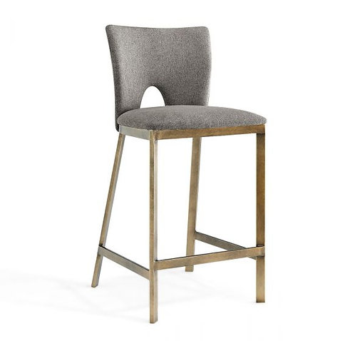 CAMLEY BEIGE LINEN BAR STOOL