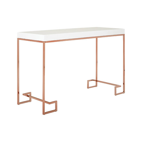 LUXE Allure Console Table with Rose Gold Legs