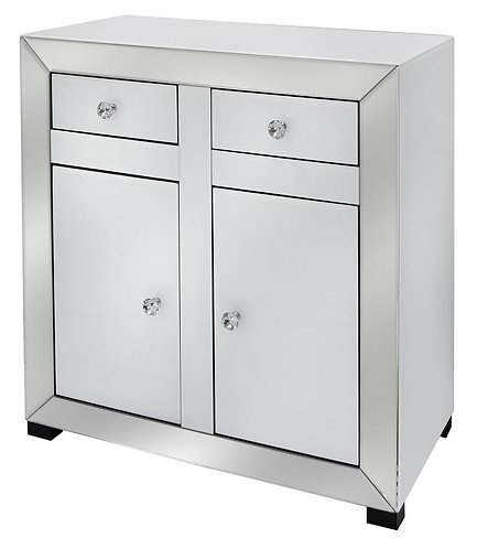 APOLLO WHITE 2 DOOR 2 DRAW CABINET