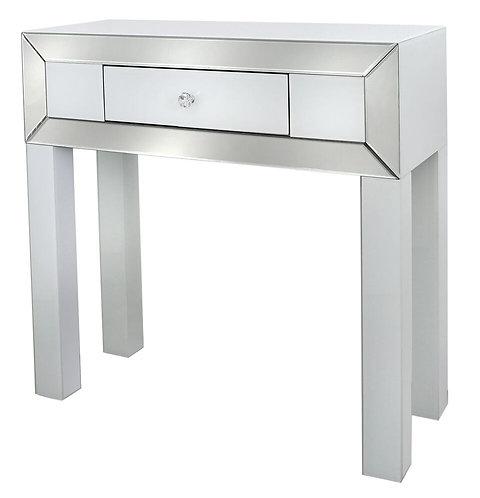 APOLLO WHITE 1 DRAWER CONSOLE TABLE