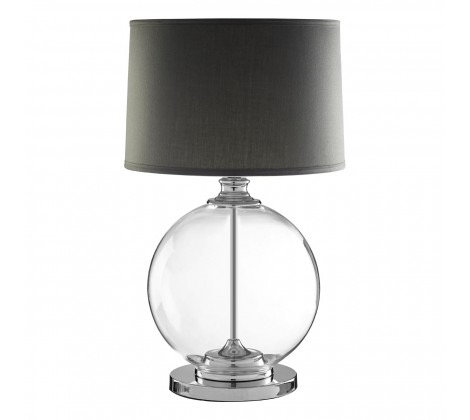 LUXE GLASS SPHERE LAMP GREY SHADE