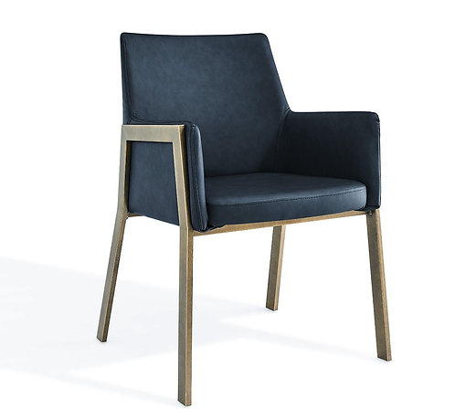 FURLEY NIGHT BLUE FAUX LEATHER DINING CHAIR