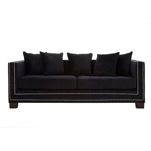 LUXE Sofia 3 Seat Sofa Black