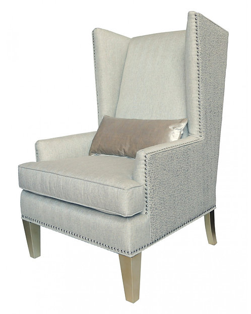 Cream Glamour Lauren High Back Chair