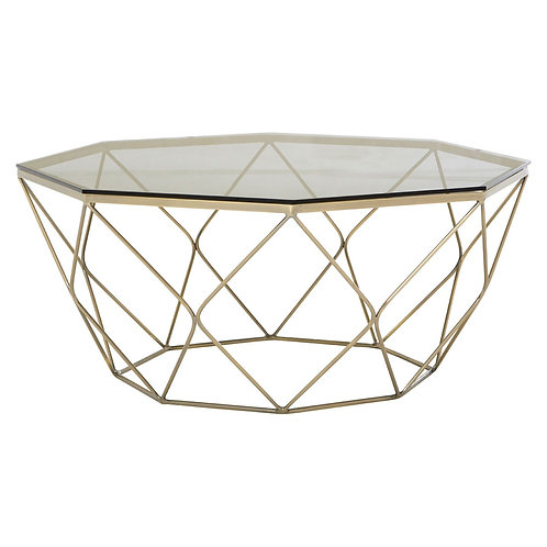 LUXE Allure Coffee Table with Brushed Nickel Base
