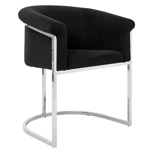 LUXE VOGUE DINING CHAIR BLACK